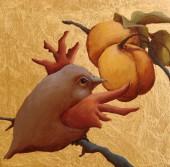 Bird and Peach